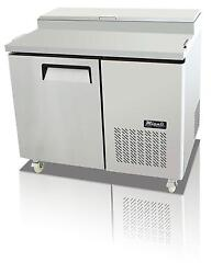 Migali C-pp44-hc 14 Cu.ft Stainless Steel Pizza Prep Table One Solid Doors