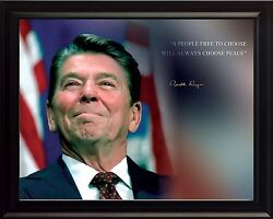 Ronald Reagan A People Free To Choose Quote Photo Picture, Poster Or Framed