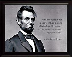 Abraham Lincoln Photo Picture Poster Or Framed Quote Iand039m A Success Today ..