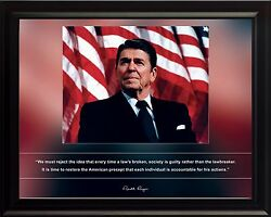 Ronald Reagan Photo Picture, Poster Or Framed Famous Quote We Must Reject..