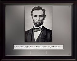 Abraham Lincoln Photo Picture Poster Or Framed Famous Quote Those Who Deny