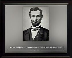 Abraham Lincoln Photo Picture Poster Or Framed Famous Quote The Time Comes