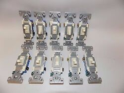 100 Pack- New Cooper Eaton 1303-7a Electrical Light Switch 3-way Almond 15a 120v