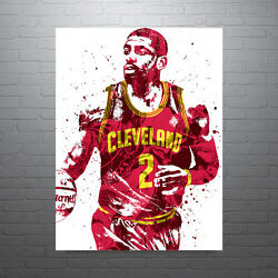 Kyrie Irving Cleveland Cavaliers Poster Free Us Shipping
