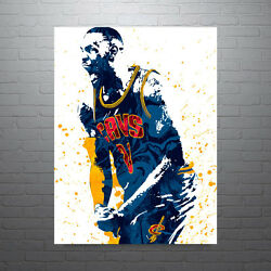 Lebron James Cleveland Cavaliers Poster Free Us Shipping