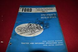 Ford Tractor 406 Tool Bar Cultivators Operator's Manual Yabe11