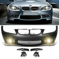 Fit 09-11 E90 3series W/pdc M3 Style Replacement Front Bumper Body Kit+fog Light