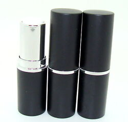 Empty Lipstick Tubes/casings/containers 12.1 Size - Black With Silver Ring