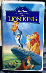 The Lion King / Rare Vhs Movie Classic / Masterpiece Collection / Mint Condition