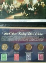 United States Founding Fathers Collection Presidential Dollars And Stamps