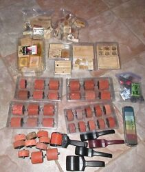 Stampin Up Huge Lot Of New / Lightly Used Some Rare Rollers And Stamps