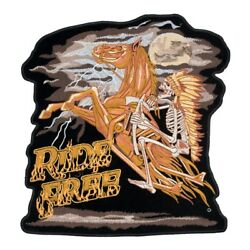 Ride Free Indian And Horse Patch, Biker Back Patches