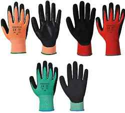 Portwest Cut Resistant Nitrile Foam Safety Hand Protection Gloves 72 And 144 Pcs