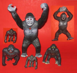 1998 Imperial King Kong Action Figure + Vintage Hand-painted Unbranded Pvc Ko X3