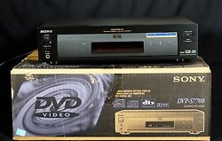 Sony Dvp-s7700 Dvd Cd Reference Player Dta Ac3 Video Audio - Box Manual Cables