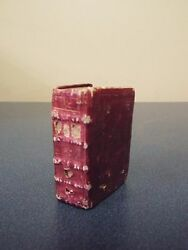 1782 Very Rare French Mini-thumb Bible With 12 Plates-nice