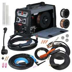 Mts-205 Amp Mig Wire Feed Welder Flux Cored Wire Tig Stick Arc Dc Combo Welding