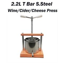 Free Postage Italy Made 2.2l Multi-purpose Wine/cider/cheese Making S.s Press