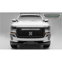 T-rex Black Torch Series 30 Led Main Grille For Chevrolet Silverado 1500 16