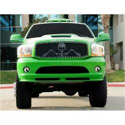 T-rex Black Studded X-metal Grunt Style Main Grille Soldier For Dodge Ram 02-05