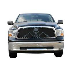 T-rex Black Studded X-metal Grunt Main Grille W/ Soldier For Ford F-150 09-12