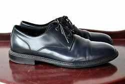 Marc Jacobs Drk Blue Leather Oxford Lace Shoes Sz 9.5 Italy Rare Design Sold Out