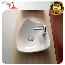 LAY-ON WASHBASIN WITH TAP HOLE - SCARABEO MODEL