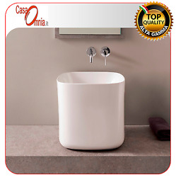 Lay On Washbasin Without Tap Hole - Scarabeo Moon H40