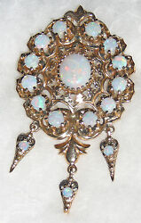 Opal And 14k Gold Pin Pendant Circa 1960s, Purchased In Montreal, Canada