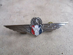 Vintage 1990 Viscount Air Service Airlines Senior Command Pilot Wings Pin 4