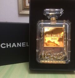 Authentic Limited Edition Chanel Perfume Bottle Chain Purse & Gift Storage Box