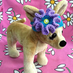 Pet Clothes for Dog amp; Cat Spring Summer Outfit Handmade Knit Headband $7.99