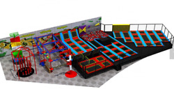 15000 sqft Commercial Trampoline Park Rope Course Rock Wall Turnkey We Finance