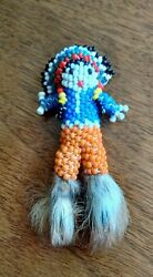 Antique 1900s Hand Made Native American Folk Art Beaded Childs Toy History
