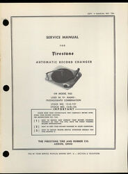 Rare Factory Firestone Vm Model 950 Record Player Changer Owner's Service Manual