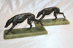 Magnificent 1900's French Bronze Onyx Pair Of Book Ends 'must See'