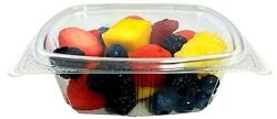 12 Oz. Clear Hinged Deli Fruit Salad Candy Container 5.38 X 4.5 X 2.88