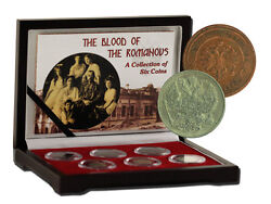 Blood Of The Romanovs Box Of 6 Of The Last Russian Coins Issued By The Romanovs