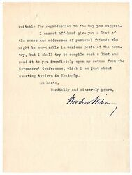 Woodrow Wilson Typed Letter Signed - Feels He Doesn't Have Claim Over Presidency