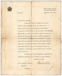 Woodrow Wilson Typed Letter Signed - Run For Presidency If The People Desire It