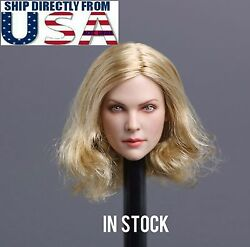 1/6 American European Female Head Sculpt Blonde For Hot Toys Phicen In Stock Usa