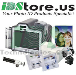 New Fargo Hdp5000 Single Side Complete Photo Id Card Printer System