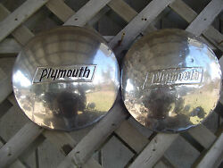 Vintage 1937 1938 1939 1940 Plymouth Coupe Sedan Max Wedge Hubcaps Wheel Cover