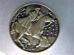 Paul Revere, Engraver And Patriot, 1735-1818 Bronze 40mm 3d High Relief Medal