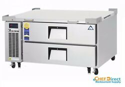Everest Ecb48d2 48-3/8 One Section Two Drawer Side Mount Refrigerated Chef Base