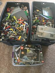 Lego Assorted Bricks 225 Lbs Total 45 Lbs In Instructions