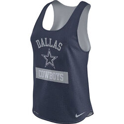 Dallas Cowboys Nfl Womenand039s Navy Gear Up Mesh Performance Tank Top X-small