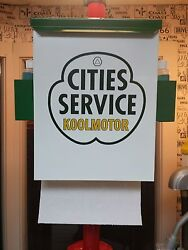 Cities Service Koolmotor 1950s Style Gas Oil Station Towel Box Dispenser New