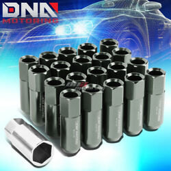 20 Pcs Grey M12x1.5 Extended Wheel Lug Nuts Key For Lexus Is250 Is350 Gs460