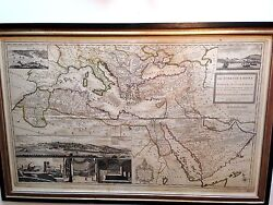 Herman Moll Map The Turkish Empire In Europe Asia And Africa 1740 Ad.